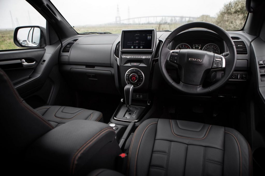 Isuzu D-Max interior and cab