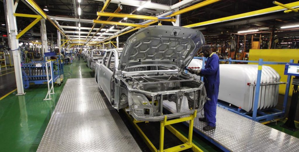 Ford Ranger factory in Pretoria, South Africa