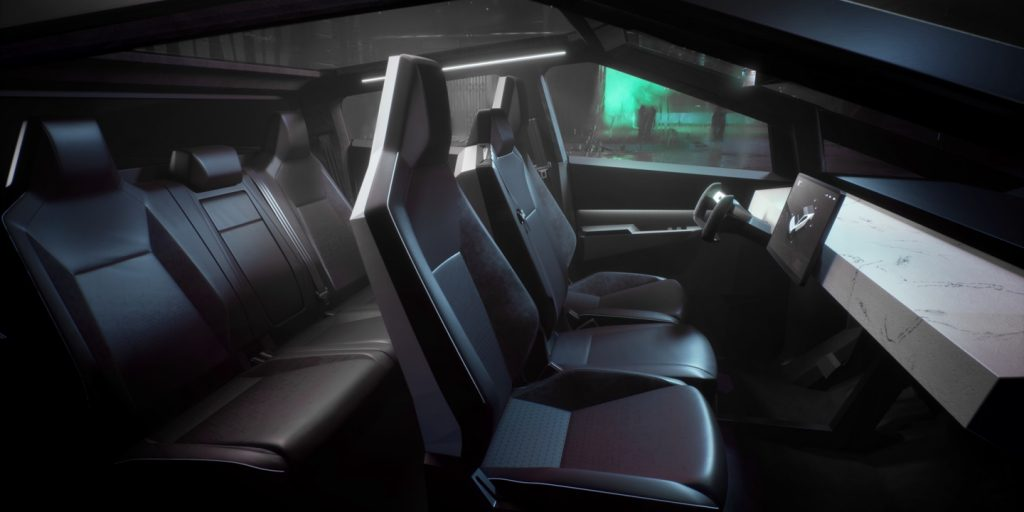 Tesla Cybertruck interior
