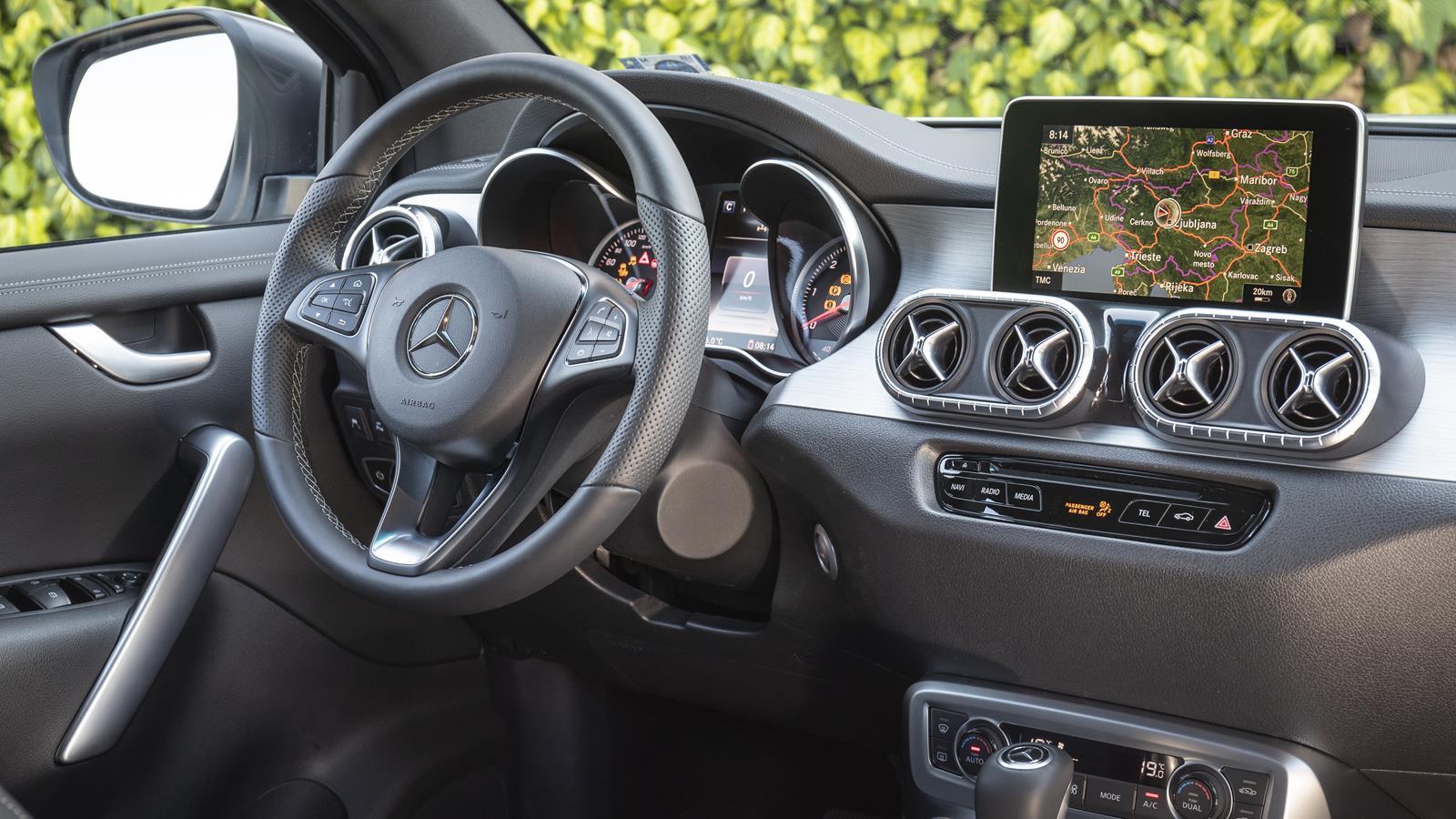 The Mercedes-Benz X-Class V6 interior.