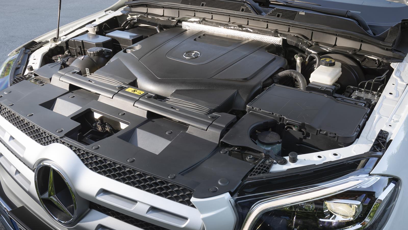 The Mercedes-Benz X-Class V6 engine.