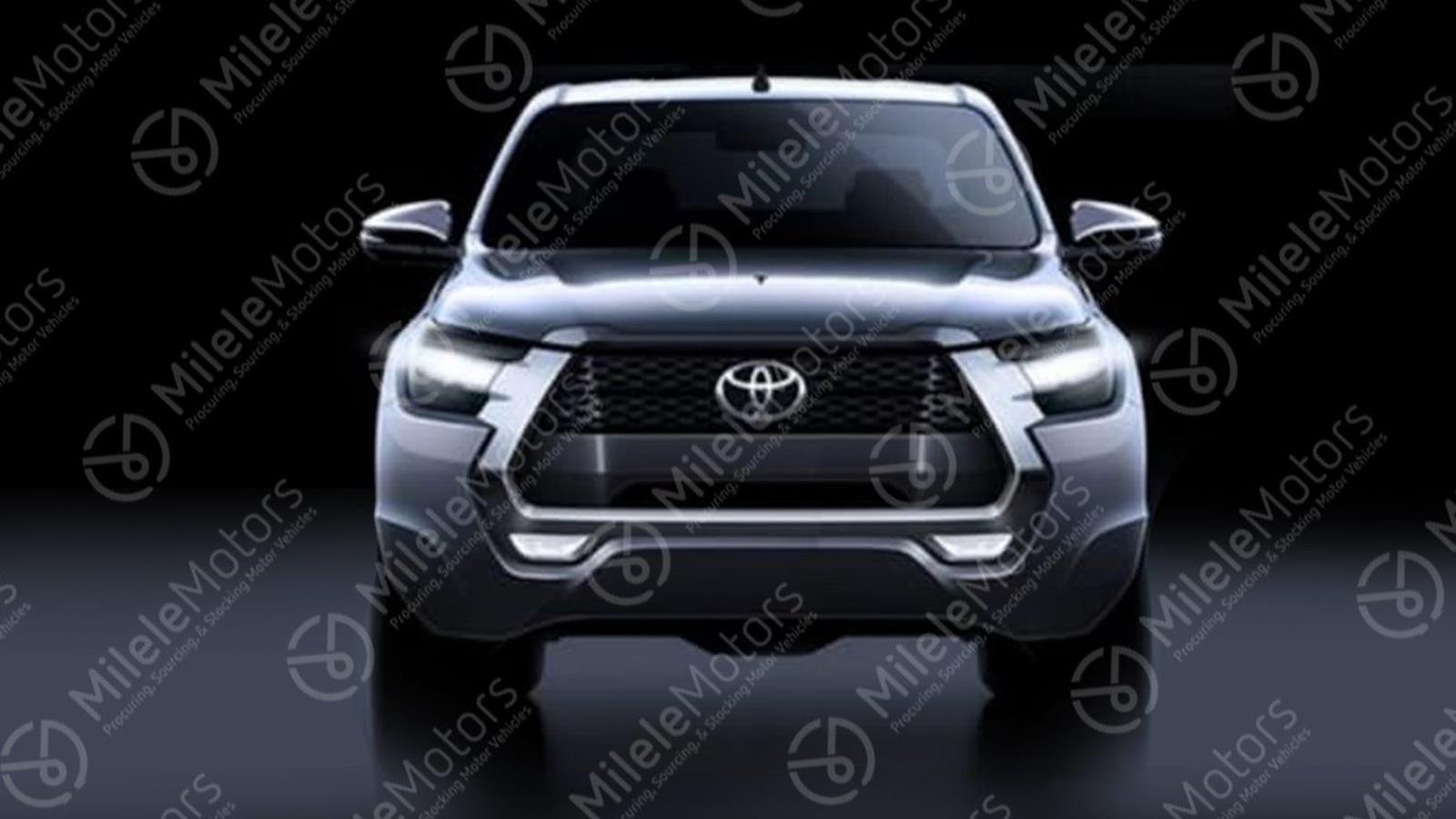 The 2021 Toyota Hilux has a more aggressive front end
