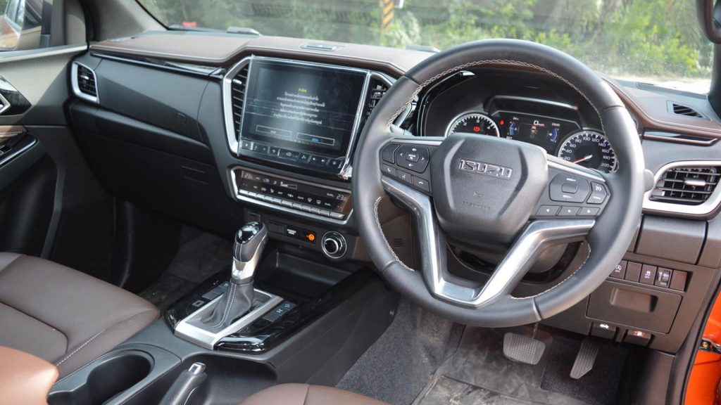 The Isuzu D-Max 2021 MY has an improved interior