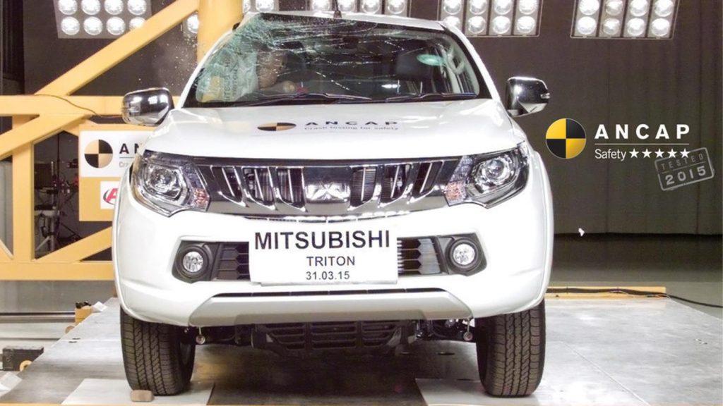 The Mitsubishi L200 faced a side impact crash test