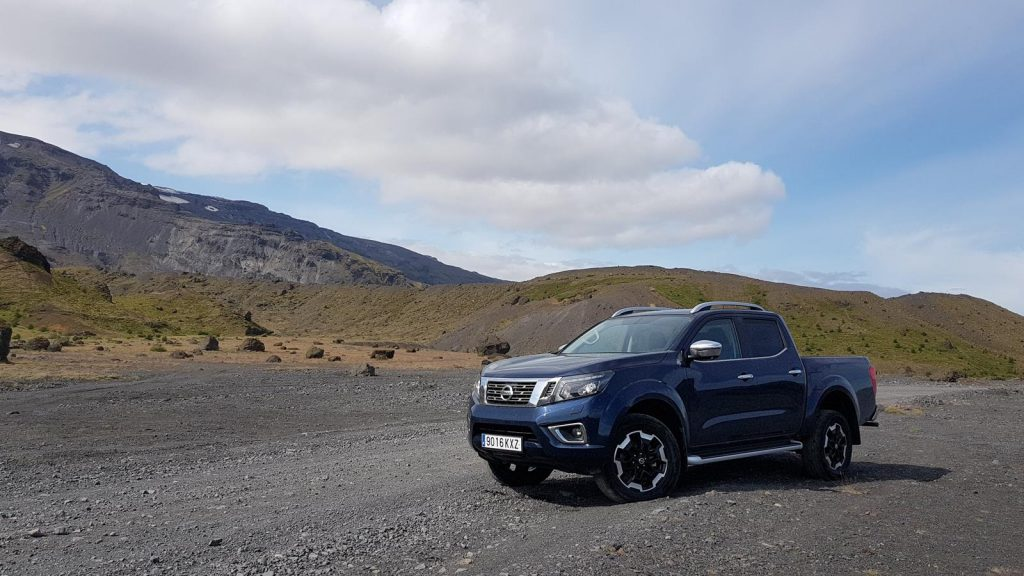 Blue skies in Iceland at the start of the Nissan Navara adventure.