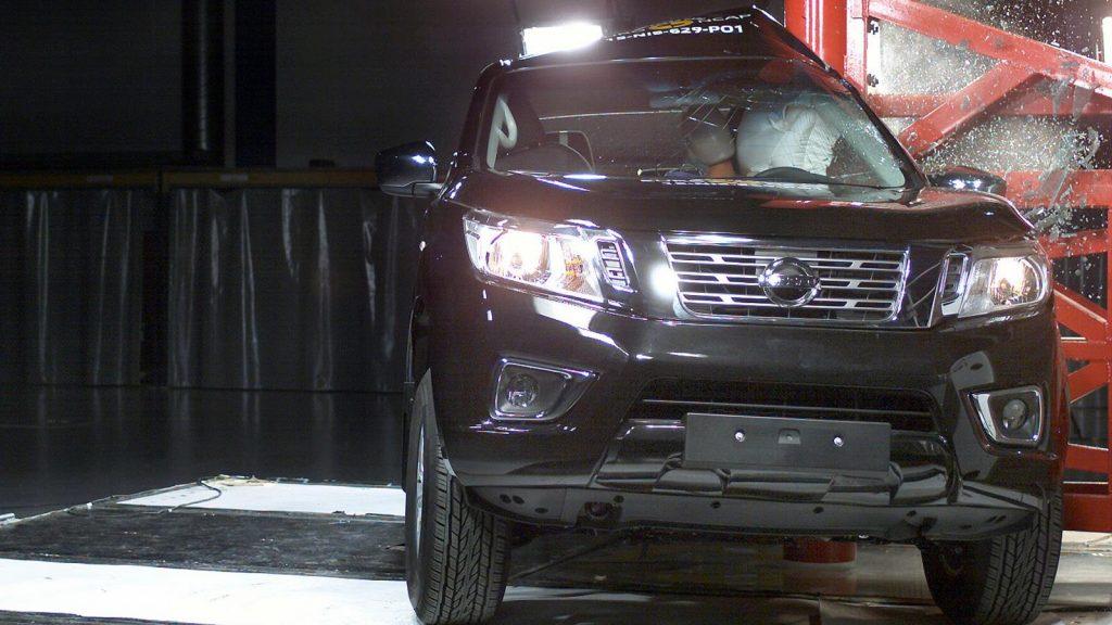 Nissan Navara Crash Safety Test at Euro NCAP