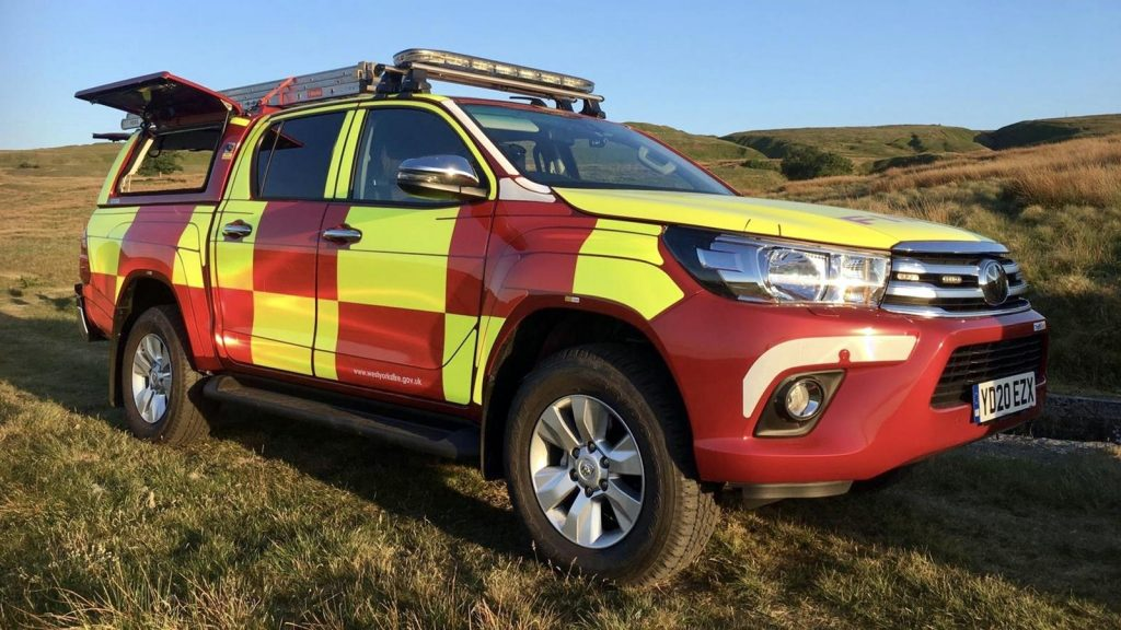 West Yorkshire Fire and Rescue Service Toyota Hilux