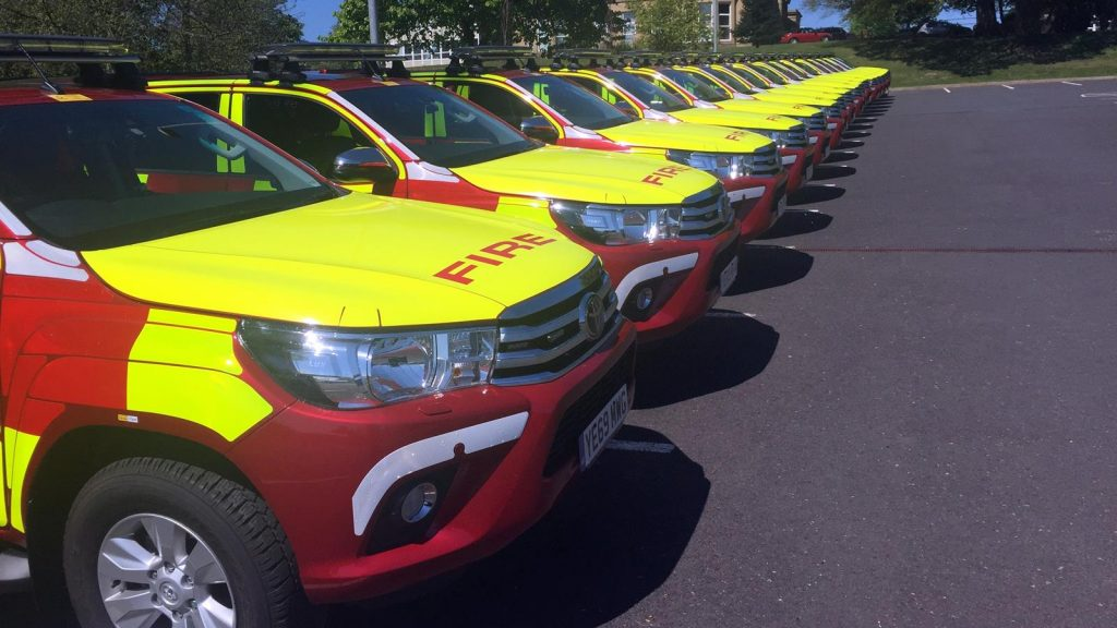 West Yorkshire Fire and Rescue Service Toyota Hilux fleet