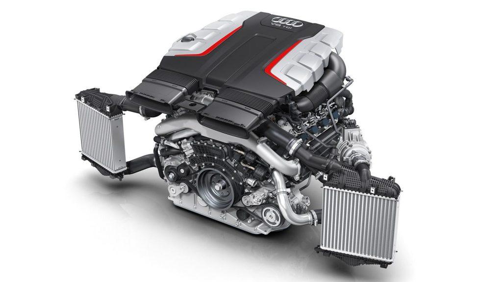 EA 898 4.0-litre V8 engine being tested in the Amarok
