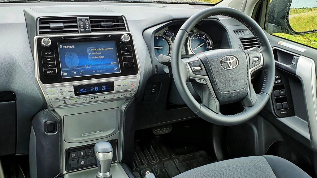 Dashboard of the Land Cruiser Commercial