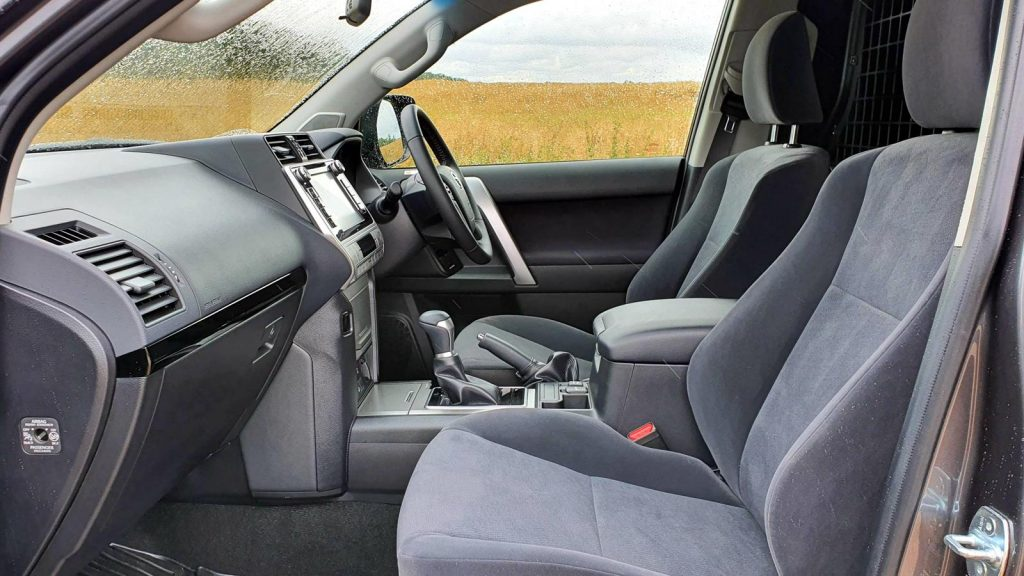 Interior of the Land Cruiser Commercial