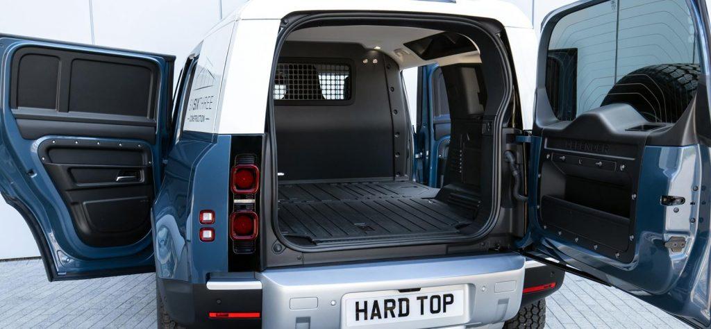 Land Rover Defender Hard Top commercial 4x4 load bay