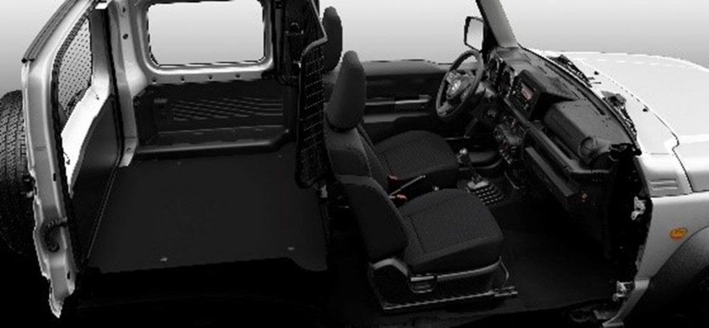 The Suzuki Jimny LCV features a flat load bay.