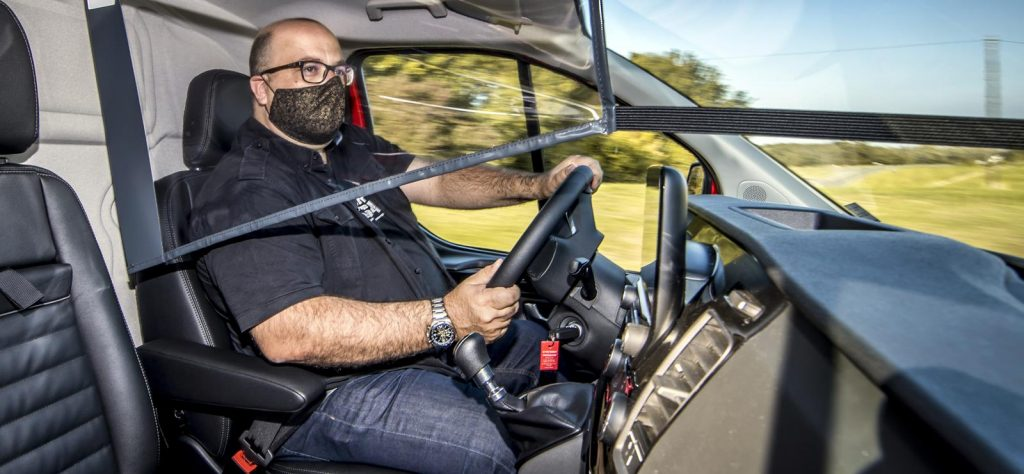 Behind the wheel of the Ford Transit Custom Trail