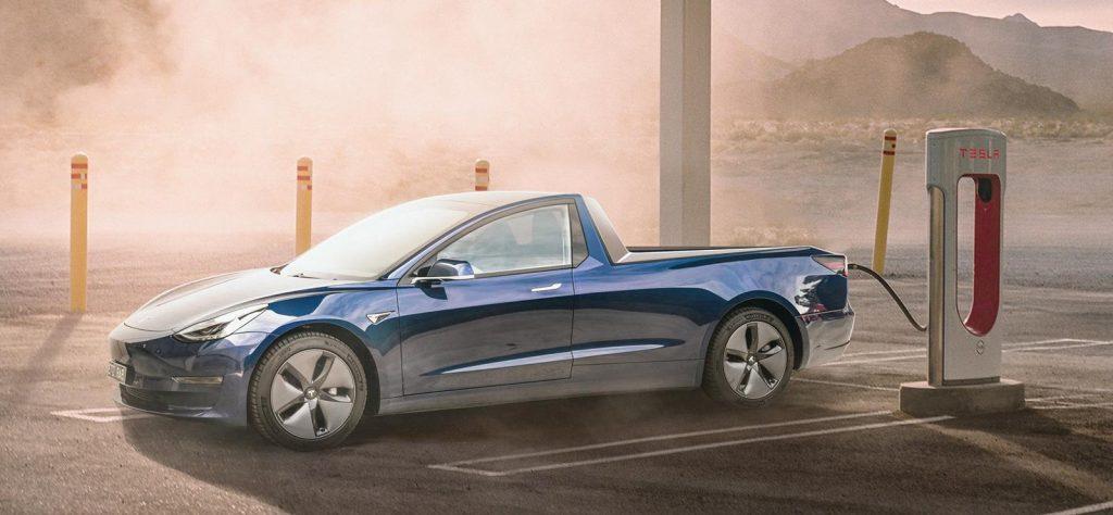 Cars as pickup trucks Tesla Model 3