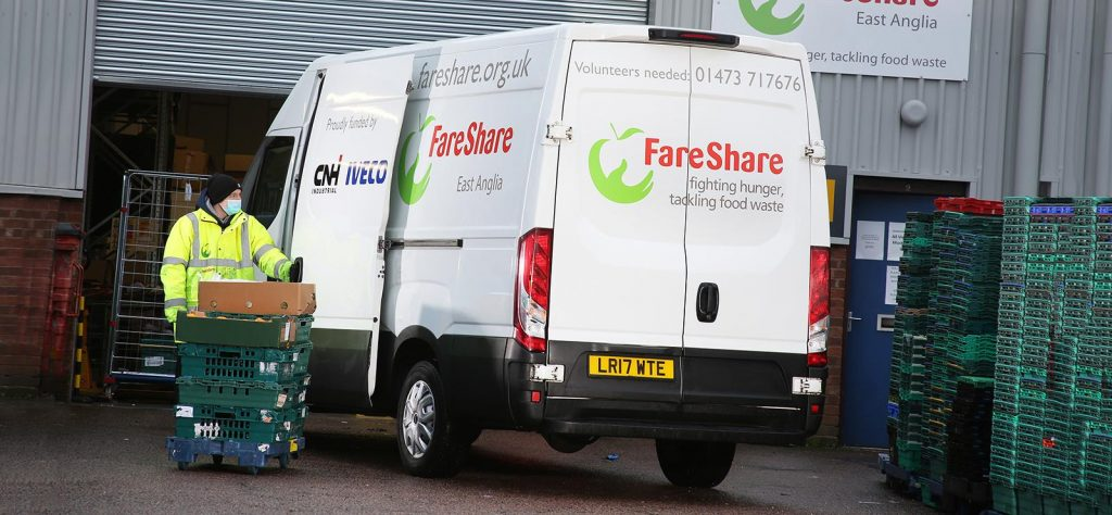 Iveco Daily donated to fareShare charity