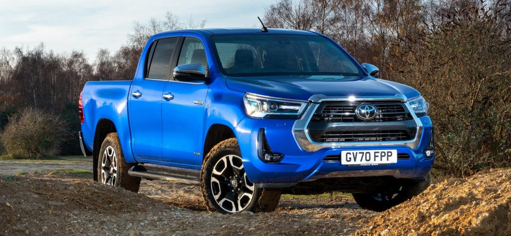 The Toyota Hilux is the second best-selling pickup truck in the UK