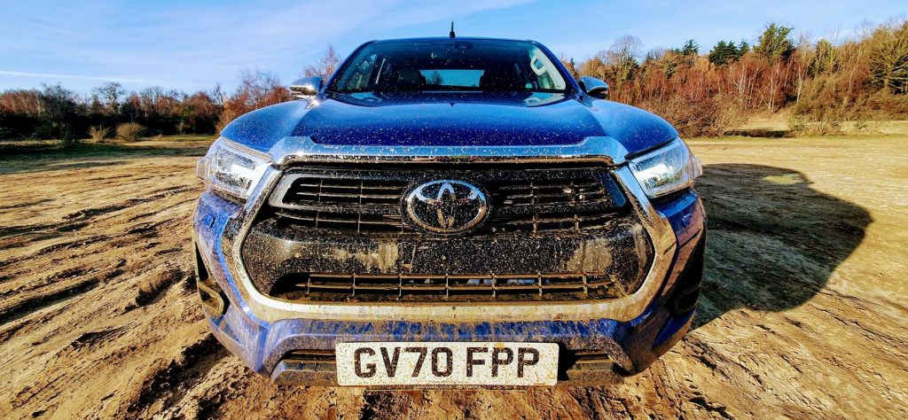 The revised nose of the new Toyota Hilux