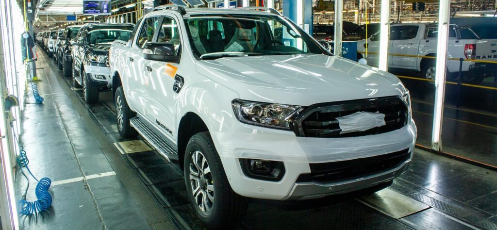 Ford Ranger production line in Silverton factory ahead of Volkswagen joint venture